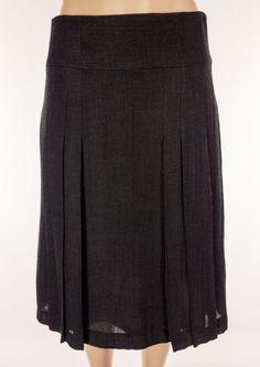 AKRIS PUNTO Skirt Size 10 M Medium Brown Weave Full Wool Blend Wear To Work #AkrisPunto #FullSkirt