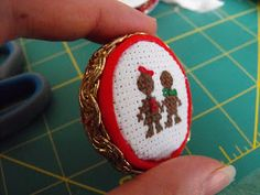 Ruby Murrays Musings: Tutorial: Mini Embroidery hoops from Milk Bottle Tops - More Button Art