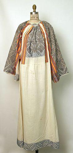 Dress | Date: 1900–1981 |  Culture: Romanian | Medium: cotton, metal