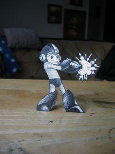 Robot. Megaman Paper.