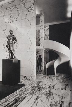 Agatha O l Luigi Moretti: Palestra del Duce, Art And Architecture, Architecture Details, Design Hotel, Modern Interior Design, Interior And Exterior, Bauhaus, Decoration Entree, Rationalism, Ladder