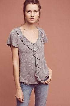 Iris Ruffle Tee #anthropologie