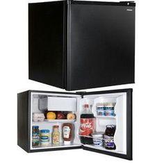 haier america- -1.7cf Refrigerator- Black