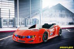Koltuklu Araba Yatak - Kırmızı Araba Yatak - Kumandalı Araba Yatak
