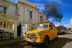 Yellow fiat taxis ply the streets of Asmara, another relic of Italian colonial days~ Eritrea,Africa