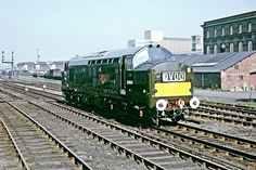 Brand new (only four days old) EE Type 3 No D6603 runs light through Burton-on-Trent en route to her new home at Landore on 20th September 1965. Later to become 37303, 37271, 37333. Built at the English Electric Vulcan Foundry and delivered on 16th Sept 1965. Eventually withdrawn as 37333 on 15th Aug 1997 and cut up at Crewe in late 1997.