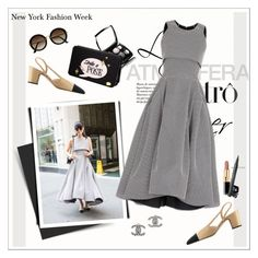 """""""NYFW: Leaf Greener"""" by amaryllis ❤ liked on Polyvore featuring Chanel, Maticevski and H&M"""