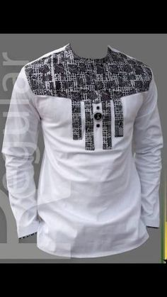 Mens White and Black Ankara Royalty Top Couples African Outfits, African Dresses Men, African Fashion Ankara, Latest African Fashion Dresses, African Print Fashion, African Shirts For Men, African Attire For Men, African Clothing For Men, African Wear Designs