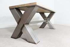This stunning X Frame bench has been designed to match our X Frame Dining Table. Can be used as a bench or coffee table dependent on your preference. Made from solid american white oak on a stainless steel frame. 100mm / 40mm stainless steel materials used. Find out more information on our website.