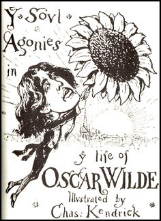 Caricature of Wilde from the period of his American tour, c. 1883. The Happy Prince, Oscar Wins, American Tours, Aesthetic Movement, Playwright, Cursed Child Book, Caricature, Literature, Shallow