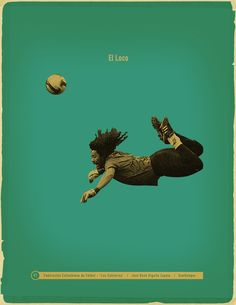 Colombia Famous Footballers by Jon Rogers, via Behance Football Icon, Football Is Life, Retro Football, Football Art, Football Design, World Football, Vintage Football, Iran Football, Soccer Art