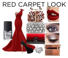 """""""Ruby Red Carpet"""" by auna-smith on Polyvore featuring Giuseppe Zanotti, Mark Broumand, Christian Louboutin, Charlotte Tilbury, NARS Cosmetics and Effy Jewelry"""