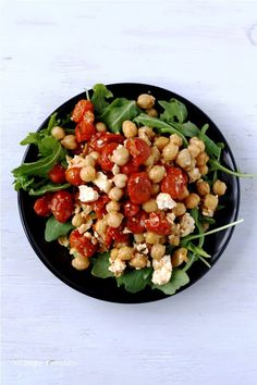 Roasted Tomatoes with Feta & Chickpeas