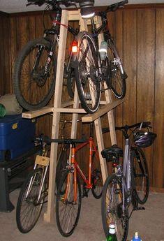 Ideas For Kids Bike Storage Ideas Bicycle Rack Bike Storage Rack, Shed Storage, Garage Storage, Rack Velo, Bicycle Rack, Diy Bike Rack, Garage Velo, Diy Garage, Garage Bike Rack