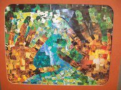 8th grade student work using magazine squares