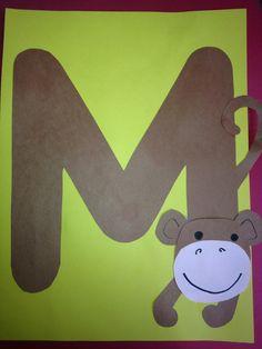 Letter m activities, preschool letter crafts, alphabet letter crafts, abc. Letter M Activities, Preschool Letter Crafts, Alphabet Letter Crafts, Abc Crafts, Preschool Projects, Preschool Activities, Letter Art, Alphabet Book, Monkey Crafts