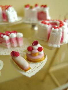 Strawberry French pastries