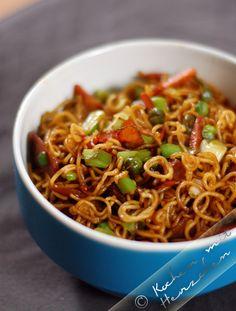 Kochen mit Herzchen - ♥ Mein Koch-Tagebuch mit viel Herz ♥: Schnelle China-Nudeln