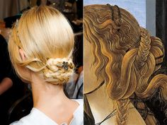 Miss Moss · Valentino Fall Couture 2011 Renaissance Hairstyles, Historical Hairstyles, Renaissance Wedding, Renaissance Fashion, Renaissance Era, Dye My Hair, Hair Dos, Hair Hacks, Hair And Nails