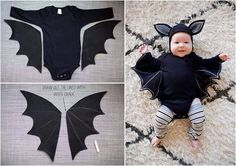 Baby Bat Costume In Black For You Little One