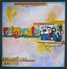 Celebrate layout by Aida Haron for Sizzix.