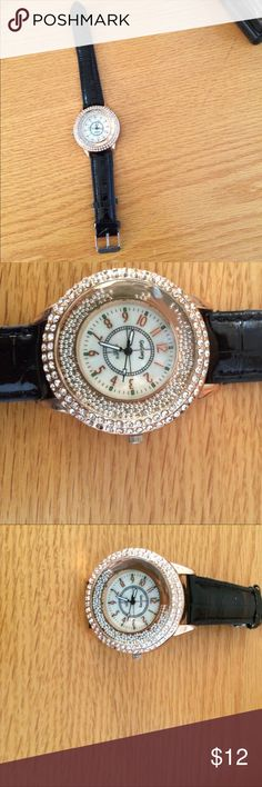 Galaxy Quartz watch Galaxy Quartz watch with beads & diamonds, needs battery 2 Cute Accessories Watches