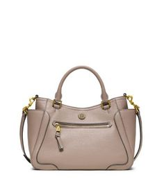 Tory Burch Frances Small Satchel -- I like it in the brown colour better.