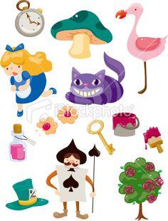 Alice in Wonderland Royalty Free Stock Vector Art Illustration