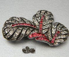 English circa 1750 Foiled set in silver    Antique Georgian jewellery