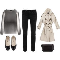 breton by trenchcoatandcoffee on Polyvore featuring Saint James, AG Adriano Goldschmied, A.P.C. and Zara
