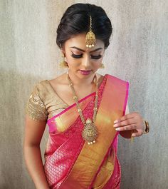 """2,027 Likes, 27 Comments - DazzlingDarlingLondon (@dazzlingdarlings_mua) on Instagram: """"Did a bridemaids makeover look on Anu. Hair/Makeup/Saree Draping/Jewellery by #dazzlingdarlings 