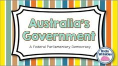 This file is the perfect way to teach the difficult concept of Australia's government to students. I use this with my grade students &a. Computer Class, Anzac Day, Important Facts, Creative Activities, Your Teacher, Citizenship, Graphic Organizers, Social Science, Social Studies