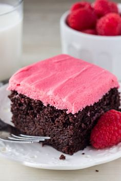 Chocolate Cake with Raspberry Frosting | Mom's Food Recipe