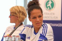 Célia Sasic ist beim 1. FFC Frankfurt angekommen. Quelle: http://www.framba.de