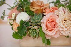wild west floral centerpieces | peach roses | Floral Arrangements