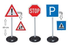 Big Traffic School Big Toys Traffic School - Road Signs Set - NEW VERSION With this set of traffic signs featuring different symbols on the front and rear, children from the age of 3 years will have lots of fun learning about road safety. The s (Barcode EAN = 4004943011990) http://www.comparestoreprices.co.uk/december-2016-4/big-traffic-school-big-toys-traffic-school--road-signs-set--new-version.asp