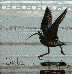 Curlew Birds embroidery quilt __ Jo Hill Interior Textiles needlework