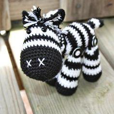 Cute crochet zebra toy