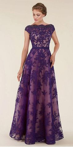 Unique Lace & Tulle Bateau Neckline Backless A-line Mother Of The Bride Dresses With Beadings & Sash