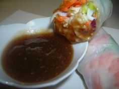 Thai Dipping Sauce for Spring Wrap or Egg Rolls from Food.com:   								This is very tasty and low fat dipping sauce - use this as a dip for a variety of appetizers or as a sauce to go with stir fry.
