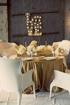 gold wedding idea; Justin Lee Photography via Style Me Pretty