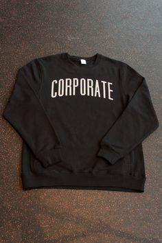 CORPORATE 3M CREWNECK (BLACK) $70