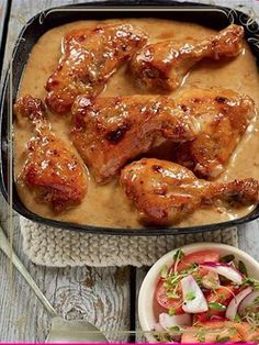 Yummy, yummy Mayonnaise and chutney may sound like an unusual combination for a chicken casserole, but this saucy, flavoursome dish is much-loved and never fails to increase the appetite. Braai Recipes, Meat Recipes, Casserole Recipes, Chicken Recipes, Cooking Recipes, Chicken Casserole, Recipe Chicken, Appetizer Recipes, Appetizers
