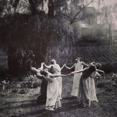 Circle of women dancing the moonlight forest Meadow Farm field Bruges Halloween Wicca Spooky Beltane Vintage Victorian photography Photo Print Beltane, Wiccan Magic, Victorian Photography, Vintage Photography, Photo Print, Pagan Witch, Evil Witch, Season Of The Witch, Witch Aesthetic