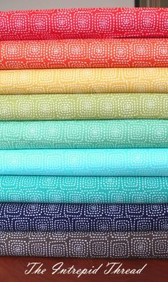Stitch Square Half Yard Bundle - nice and bright collection of blenders!