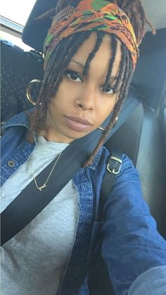 "loveurhairforever: ""Locs and Bangs """