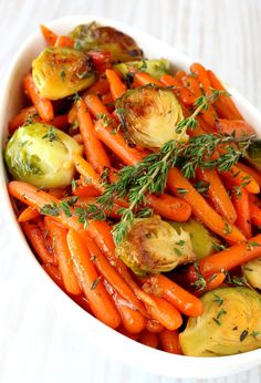 Amazing Whiskey Glazed Brussels Sprouts & Carrots Side Dish!