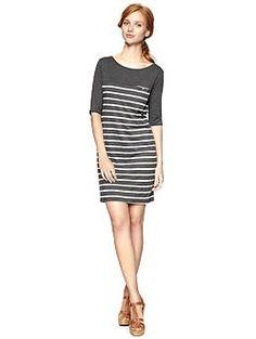 Exclusive Gap + Clu Striped Dress (Charcoal Heather). Gap. $69.95
