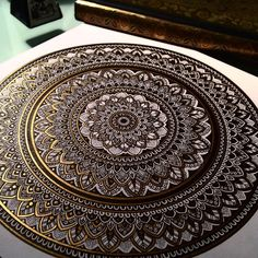 """""""TB to my gold coin. Tag a friend who loves #mandala work. ❤️ #murderandrose"""""""