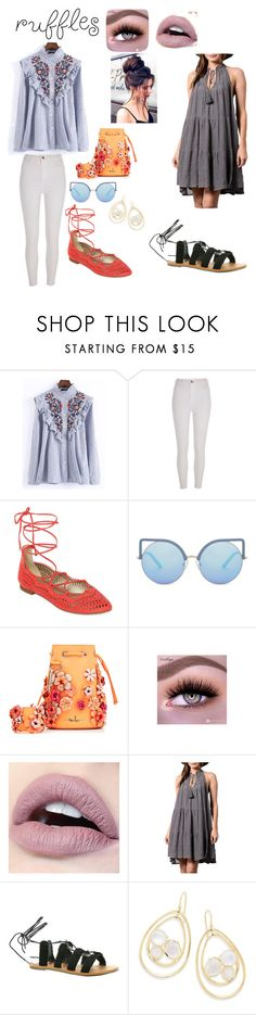 """Ruffles"" by kiwi01 ❤ liked on Polyvore featuring WithChic, River Island, A.N.A, Matthew Williamson, Marina Hoermanseder, WishList, Billabong and Ippolita"